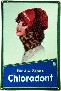 Chlorodont Frau bekanntestes Werbemotiv der Leo Werke 1915