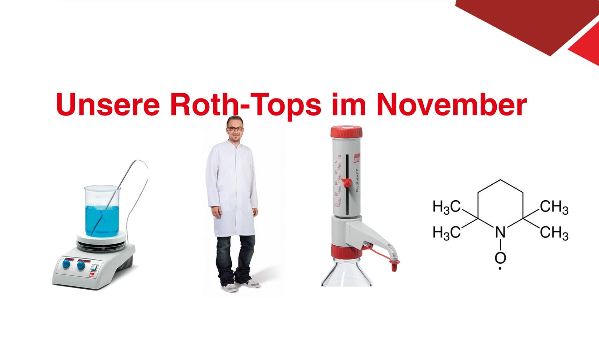 Carl Roth-Tops im November