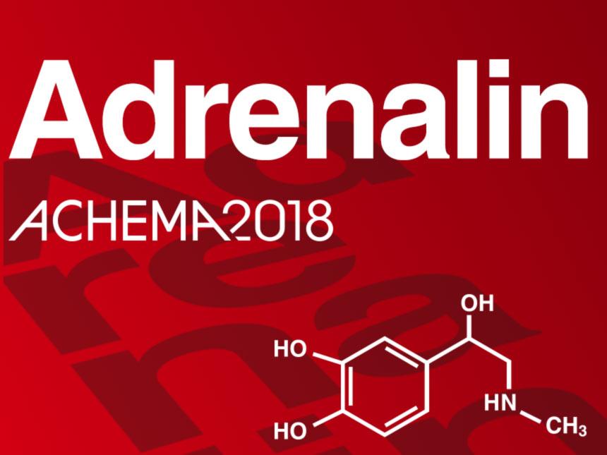 Adrenalin auf der Achema 2018