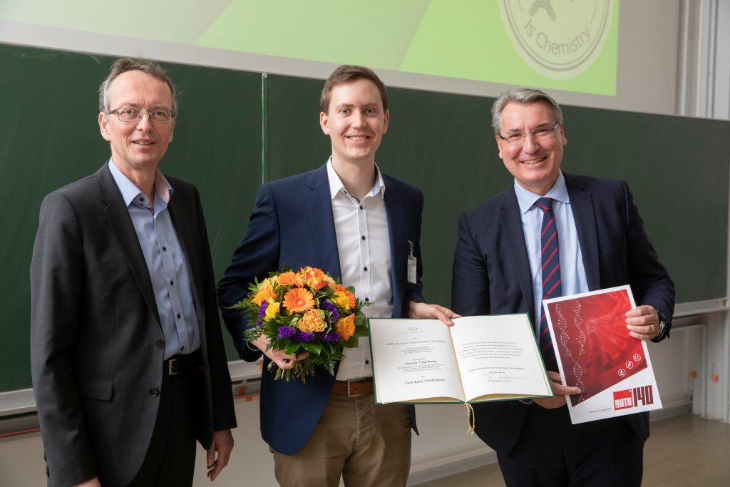 Dennis Vogelsang erhält den Carl Roth Förderpreis 2019