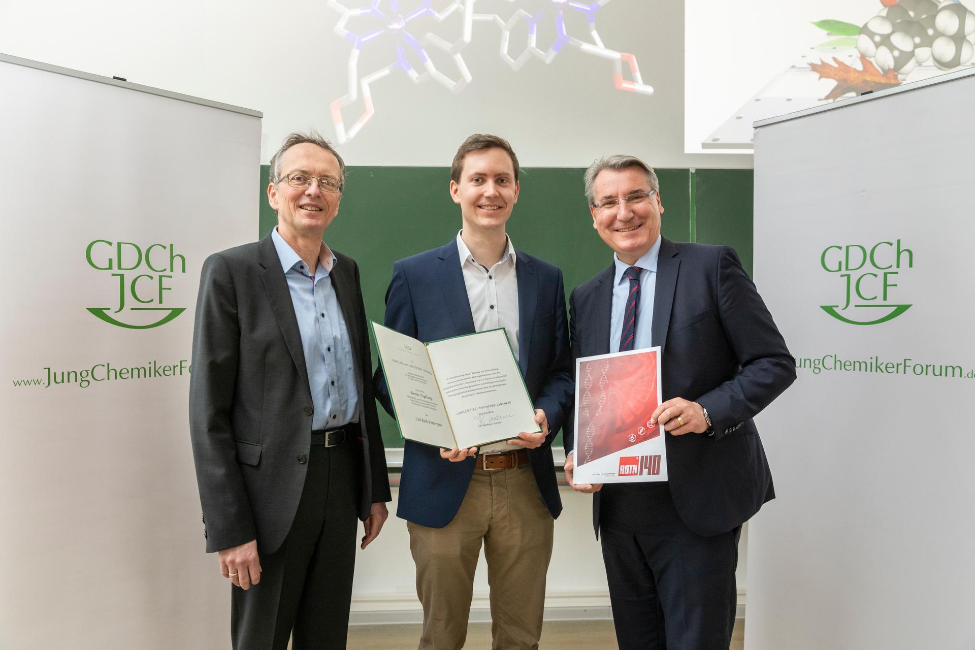GDCh Preisverleihung Carl Roth Förderpreis